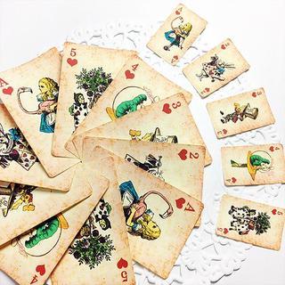 不思議の国のアリス☆ヴィンテージ風トランプ・シールセット☆ハート(カード/レター/ラッピング)