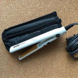 オームデンキ(オーム電機)のOHM 黄土セラミックヘアメイクアイロンミニ 白 HTI-1300 オーム電機(ヘアアイロン)