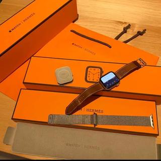 最新モデル アップルウォッチseries4 HERMES 即購入なし(腕時計(デジタル))