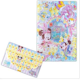 ディズニー(Disney)のクリアホルダー チケットケース うさピヨ イースター ディズニー 新商品(ファイル/バインダー)