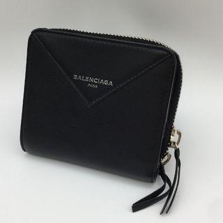 066db8398dd1 バレンシアガ(Balenciaga)の美品 バレンシアガ BALENCIAGA レザー 二つ折り 財布 黒 ブラック(