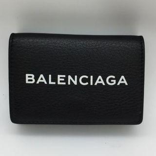 1ba0e8439593 バレンシアガ(Balenciaga)の美品 BALENCIAGA バレンシアガ ミニ 三つ折り 財布 黒 レザー(