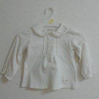 クーラクール(coeur a coeur)のcoeur a coeur ブラウス 白 90(Tシャツ/カットソー)
