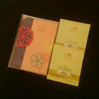ルピシア(LUPICIA)の★新品★LUPICIAルピシア★紅茶付グリーティングカード★サンプルティー2種★(茶)