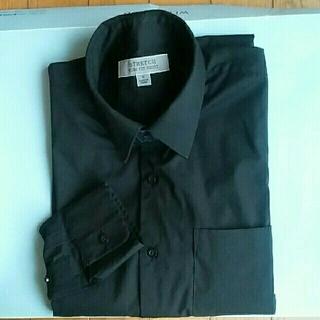 ユニクロ(UNIQLO)のユニクロ黒ワイシャツ【スリムフィットシャツ】Sサイズ(シャツ)