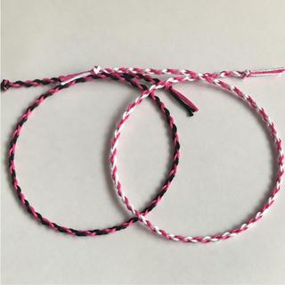 ピンク×ブラック・ホワイト 2本セット(アンクレット)
