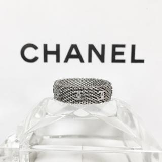シャネル(CHANEL)の正規品 シャネル 指輪 チェーン メッシュ シルバー ココマーク 銀 リング(リング(指輪))