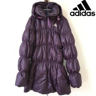 アディダス(adidas)の【adidas】ダウンジャケット (L)紫 フェザー アディダス(ダウンジャケット)