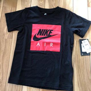 ナイキ(NIKE)の新品 NIKE Tシャツ 120 ブラック×赤(Tシャツ/カットソー)