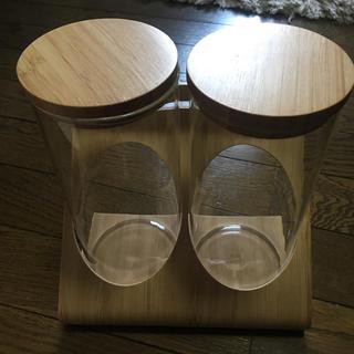 イケア(IKEA)のIKEA 容器2個 ホルダー付き 竹製(容器)