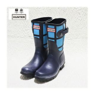 ハンター(HUNTER)の新品【ハンター】Short Tartan レインブーツ 長靴 UK4(23cm)(レインブーツ/長靴)