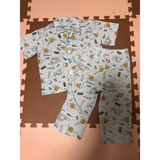 サンリオ(サンリオ)の100サイズ☆ぐでたま半袖パジャマ上下(パジャマ)