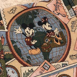 ディズニー(Disney)のレア!ディズニー ゴブラン ボストンバッグ ヴィンテージ ミッキー ミニー(ボストンバッグ)