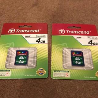 トランセンド(Transcend)のSDカード(4GB)2枚セット(PC周辺機器)