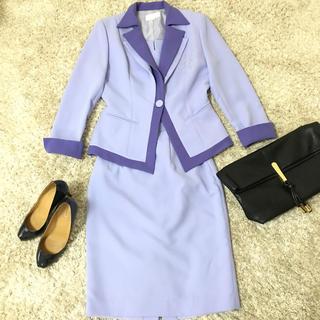 【SOBRE】スーツ上下セット(S) 紫 バブル キラキラ ツーピースセット (スーツ)