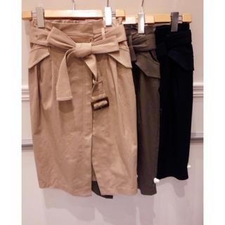 ココディール(COCO DEAL)のcocodeal コットンラップスカート(ひざ丈スカート)