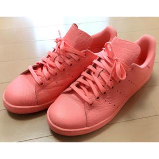 アディダス(adidas)の美品 希少レア アディダス スタンスミス ピンク 26cm クロコ型押し(スニーカー)
