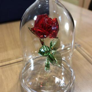 スワロフスキー(SWAROVSKI)のころな様専用 スワロフスキー 魔法のバラ 美女と野獣 置物(ガラス)