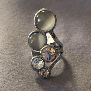 ステンレス製 シルバー カラーストーン リング(リング(指輪))