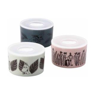 リトルミー(Little Me)の⁑最新柄⁑ ムーミン トリオレンジセット  陶器(容器)