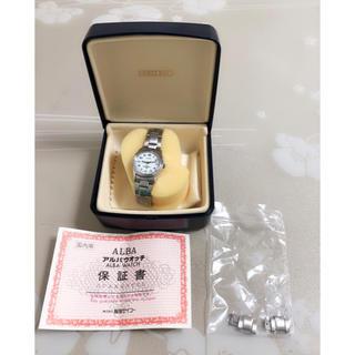 アルバ(ALBA)のS037美品★ セイコーアルバ ALBA 電波ソーラー  レディース 2コマ付き(腕時計)