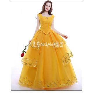 7aef697a25cb3 美女と野獣 ロング ドレス プリンセスドレス 女性用 ベル ワンピース