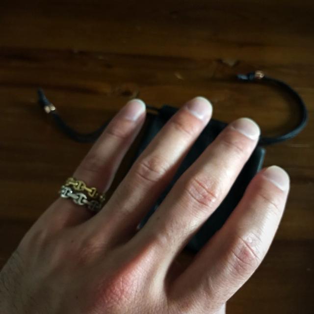 Ron Herman(ロンハーマン)のHOORSENBUHS K18 DAME TRI LINK RING ゴールド メンズのアクセサリー(リング(指輪))の商品写真
