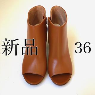 マルタンマルジェラ(Maison Martin Margiela)の新品/36 メゾン マルタン マルジェラ オープントゥ ブーツ サンダル(ブーツ)