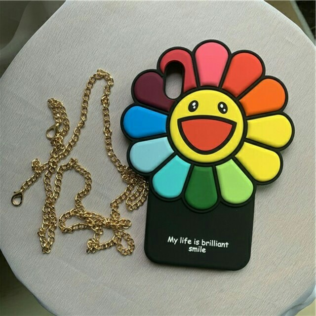 iphone6ケース ブランド グッチ | iPhone - Kaikai Kiki Xs用 お花シリコンケース 村上隆 レインボーフラワー の通販 by 二宮's shop|アイフォーンならラクマ