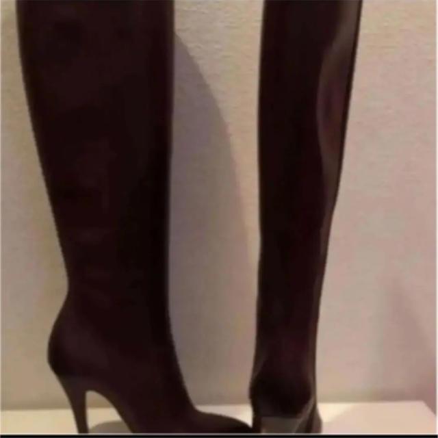 Maison Martin Margiela(マルタンマルジェラ)の【新品】Maison Martin Margiela レザーロングブーツ 38 レディースの靴/シューズ(ブーツ)の商品写真