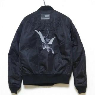 アヴィレックス(AVIREX)の【ゆう様専用】アヴィレックス MA-1 FLYING TIGERS【黒×黒★L】(フライトジャケット)
