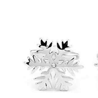 冬季ラストセール   新品未使用   雪の結晶   カフスリンクス(カフリンクス)