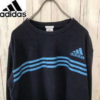 アディダス(adidas)の【希少】 adidas ロゴ&スリーラインプリント入りロングTシャツ(Tシャツ/カットソー(七分/長袖))