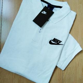 ナイキ(NIKE)のナイキ ポロシャツ メンズL ホワイト NIKE(ポロシャツ)