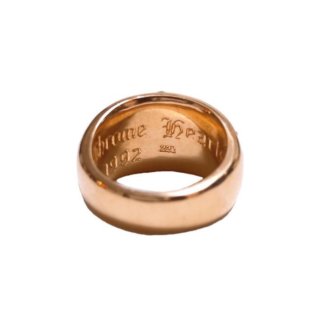 Chrome Hearts(クロムハーツ)のクロムハーツ 22k フローラルクロスリング パブェダイヤ 美品 14号【中古】 メンズのアクセサリー(リング(指輪))の商品写真