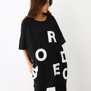 ロデオクラウンズワイドボウル(RODEO CROWNS WIDE BOWL)のランダムロゴ Tシャツ ワンピース  (その他)