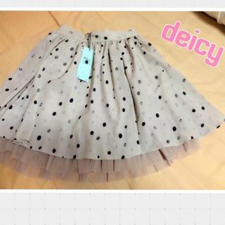 デイシー(deicy)のdeicy♡新品ドットキュロット(ひざ丈スカート)