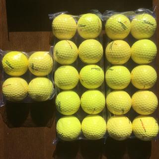 タイトリスト(Titleist)のゴルフボール ロストボール タイトリスト Titleist イエロー 24球(その他)