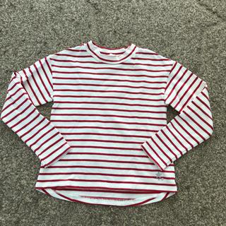 ジーユー(GU)のキッズ女の子130★赤白ボーダーカットソー GU(Tシャツ/カットソー)