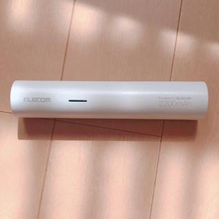 エレコム(ELECOM)のモバイルバッテリー2200mAh(バッテリー/充電器)