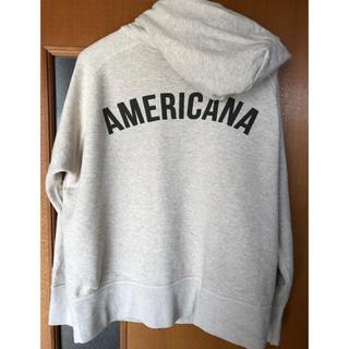 アメリカーナ(AMERICANA)のAmericana ロゴ  パーカー ベージュ スウェット(パーカー)