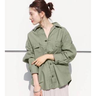 プラージュ(Plage)のPlage 製品加工Bigアーミーシャツ(シャツ/ブラウス(半袖/袖なし))