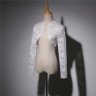 b4cde3aff1220 ウエディングドレス ボレロ ホワイト ポリエステル レース (ウェディング ...