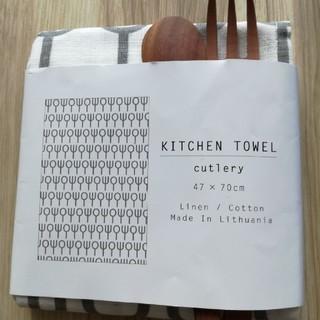 キッチンタオルとカトラリーセット(カトラリー/箸)