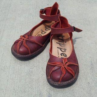トリッペン(trippen)のTrippen トリッペン 37 23.5-24cm 赤革靴(ローファー/革靴)
