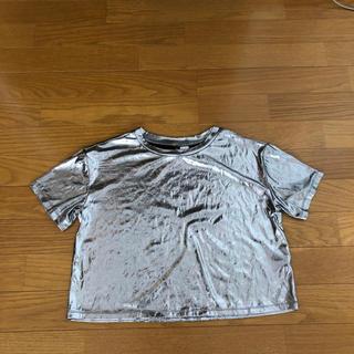 エイチアンドエム(H&M)のシルバー Tシャツ(Tシャツ/カットソー(半袖/袖なし))