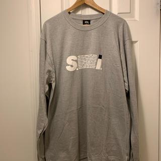 ステューシー(STUSSY)のSTUSSY S.I. L/SL TEE Lサイズ グレー(Tシャツ/カットソー(七分/長袖))