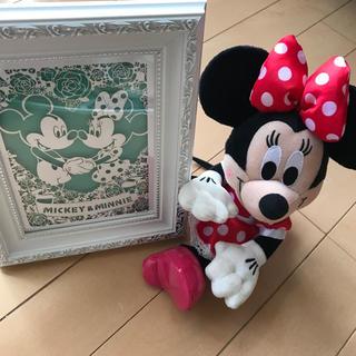 ディズニー(Disney)のミッキー&ミニーのフレーム(ミニーちゃん付き)(ウェルカムボード)
