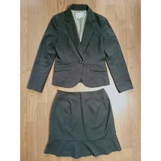シマムラ(しまむら)の【しまむら】 スーツ 3点セット ストライプ ブラック 11AR(スーツ)