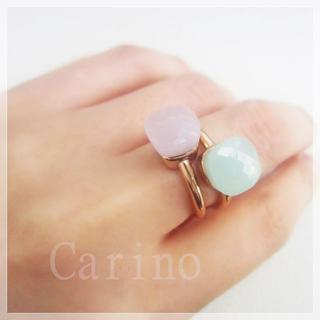 天然石 キャンディリング クォーツリング 指輪 ピンク(リング(指輪))